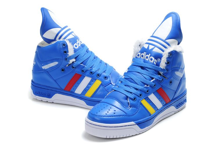 the best attitude 344f5 b66a5 Adidas Jeremy Scott JS Wings Peluche Bleu Chaussures ·  JuvenilesZapatillasInfantilesZapatos AltosZapatos De HombresZapatillas De  Deporte AzulesZapatos ...