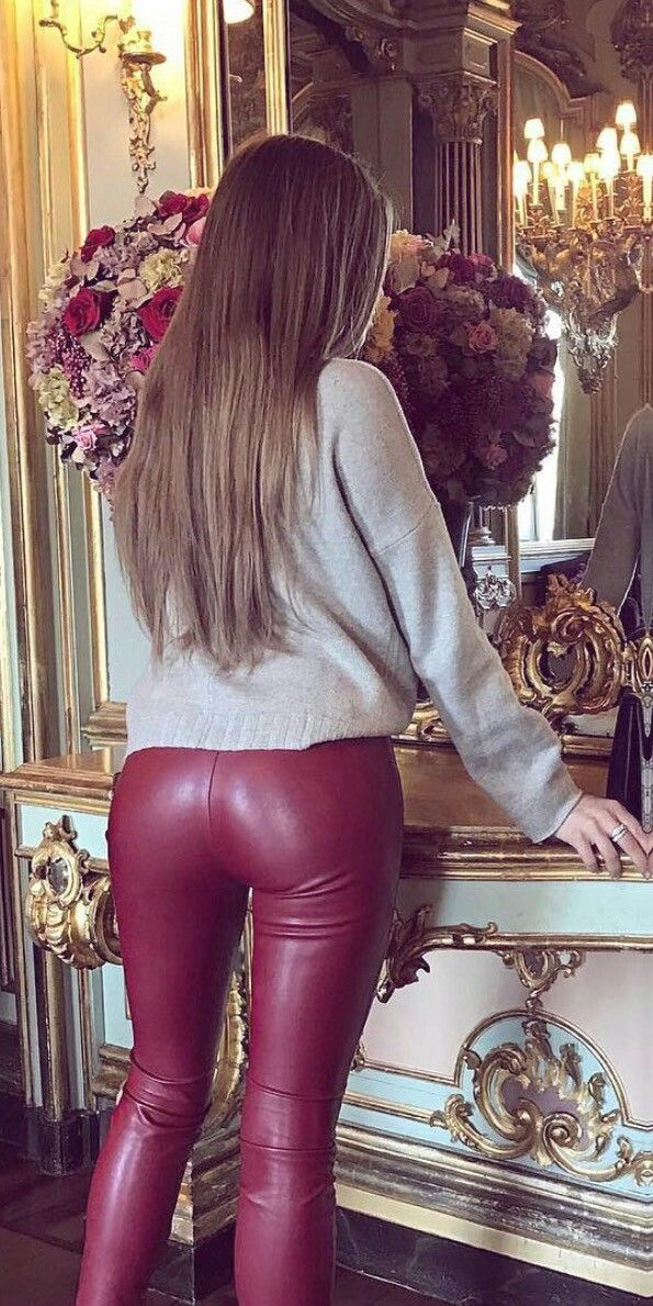 Wath You See Leather Lick Red Leather Pants Leather