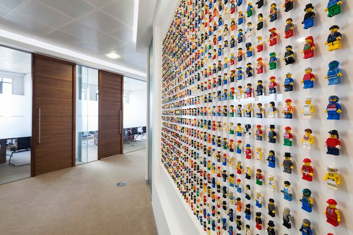 LEGO Wall Adorned With 1200 Minifigs Creates Geeky Office Decor