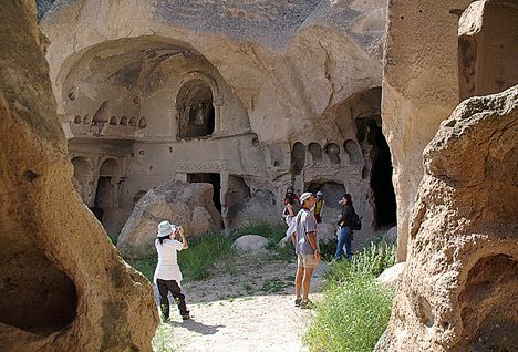 Cappadocia Turkey -- city carved out of rock
