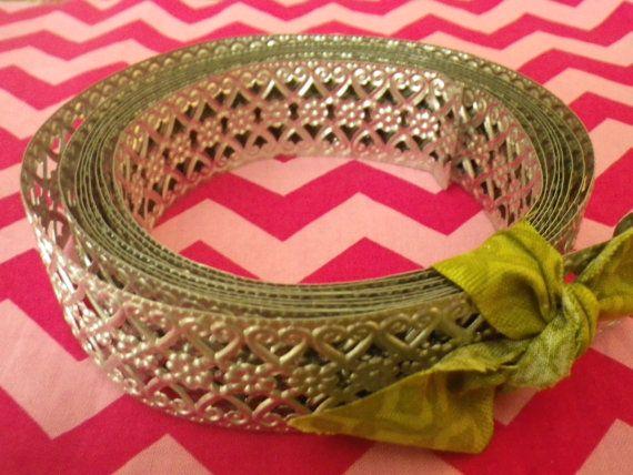 Hey, I found this really awesome Etsy listing at https://www.etsy.com/listing/184883160/metal-ribbon-galvanized-trim-metal