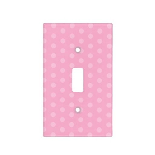 Pink Polka Dot Switch Plate Cover For The Home Pinterest