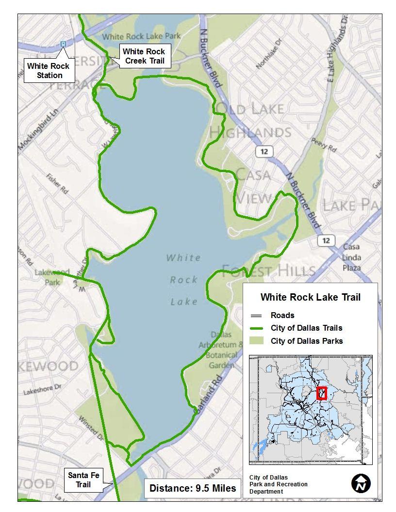 Major Loop Trails Dallas Parks Tx Official Website Trail Maps Lake Park Texas Hiking Trails
