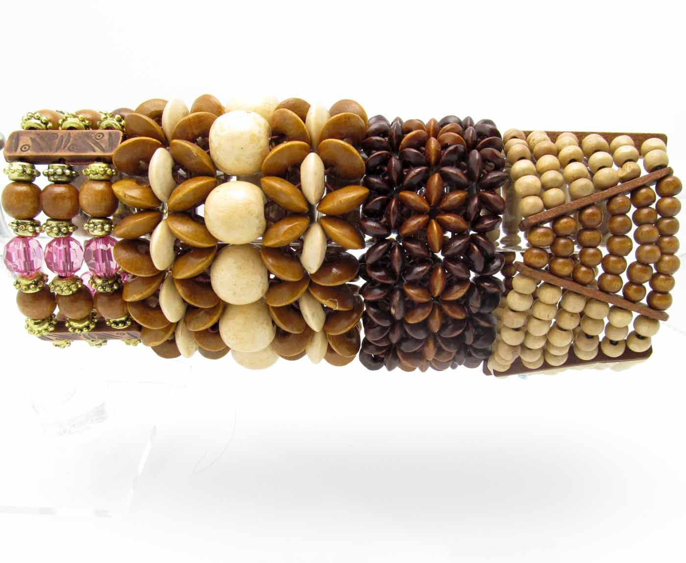 natural colors bracelet wooden chakra bead beads product woodyou products stone with image