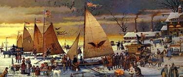 ice riders on the chesapeake bay