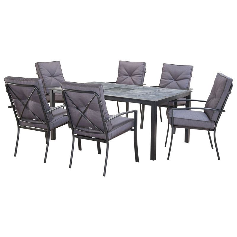 Outdoor Table And Chairs Set Bunnings: Marquee 7 Piece Florida Dining Setting