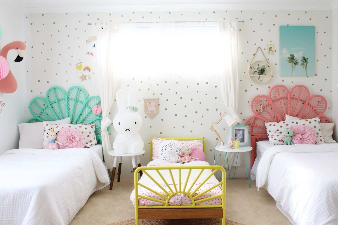 Pretty Shared Bedroom Designs For Girls: My Girls Shared Bedroom, More On The
