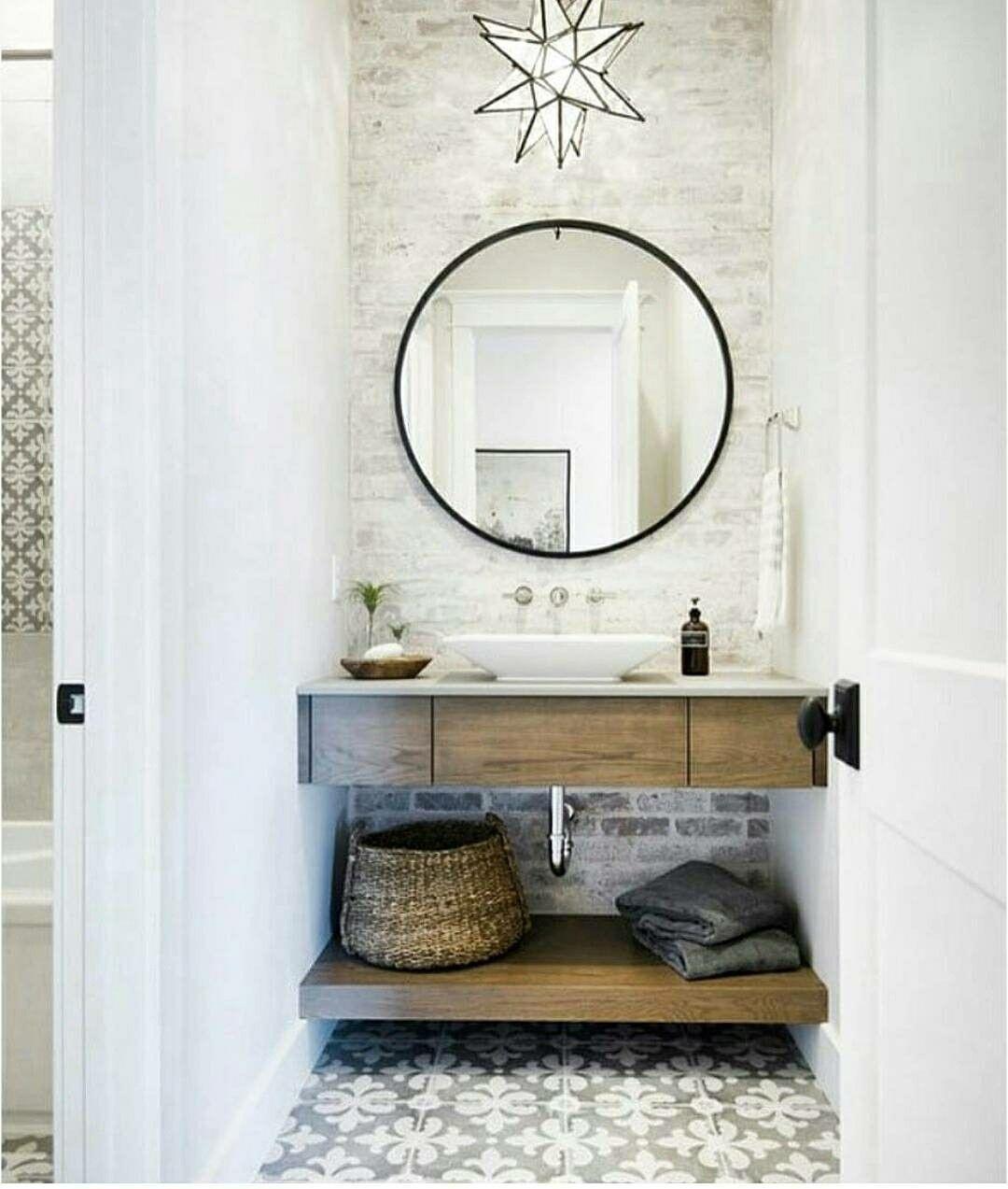 Pretty powder room | home :: Bathe | Pinterest | Powder room, Room ...