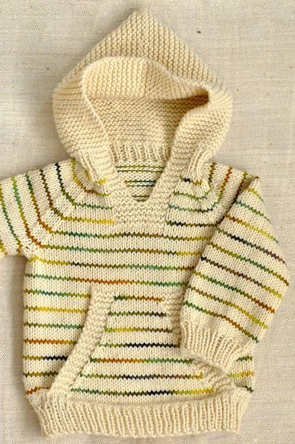 Rayado y con capucha. | tejidos | Pinterest | Suéteres con capucha ...