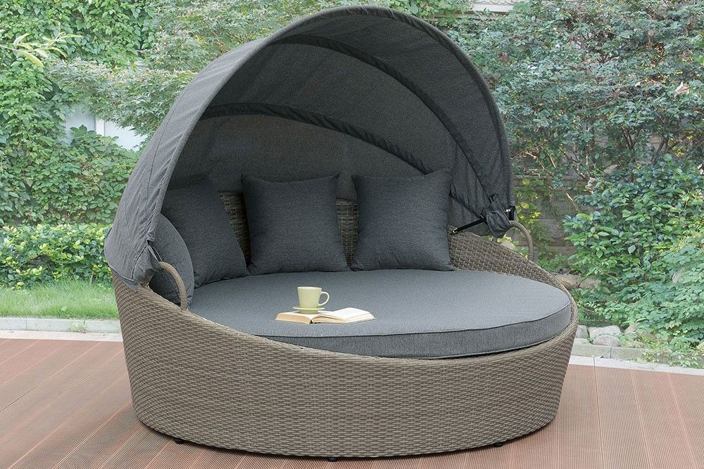Quest Outdoor Round Chaise Lounge Patio Daybed Outdoor Daybed