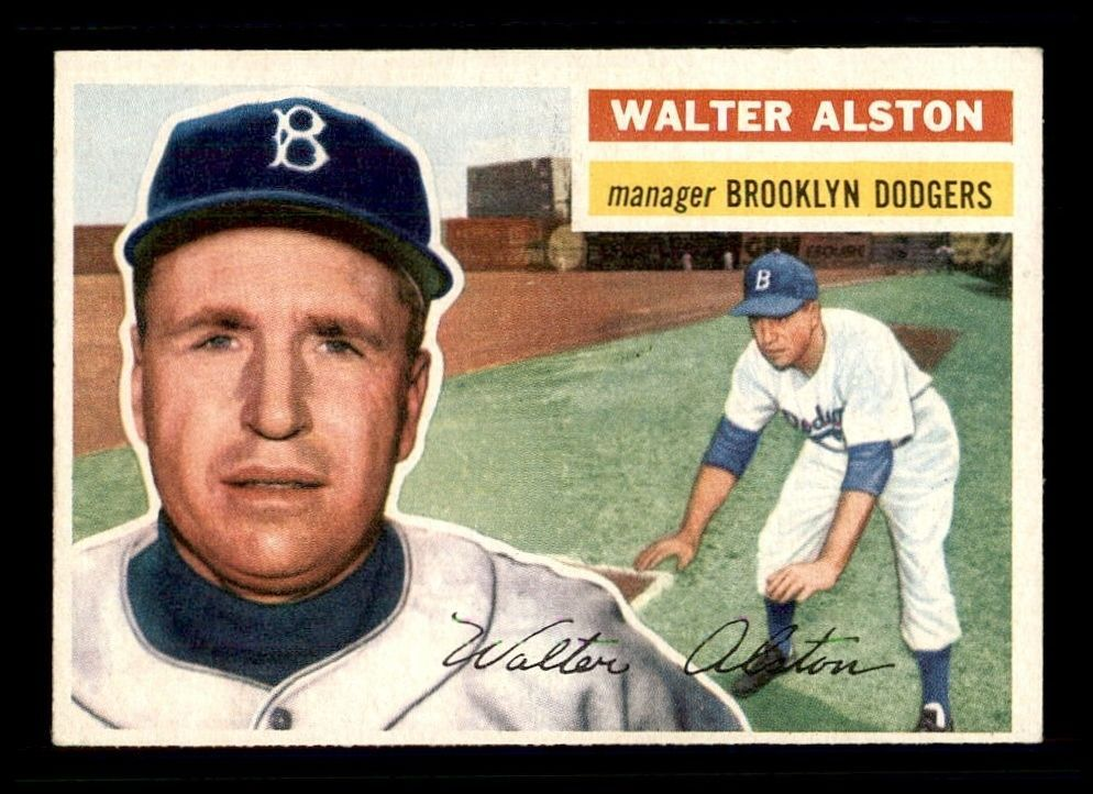 1956 Topps Wb 8 Walter Alston Mg Rc Ex X1288316 Brooklyndodgers Old Baseball Cards Baseball Cards Baseball