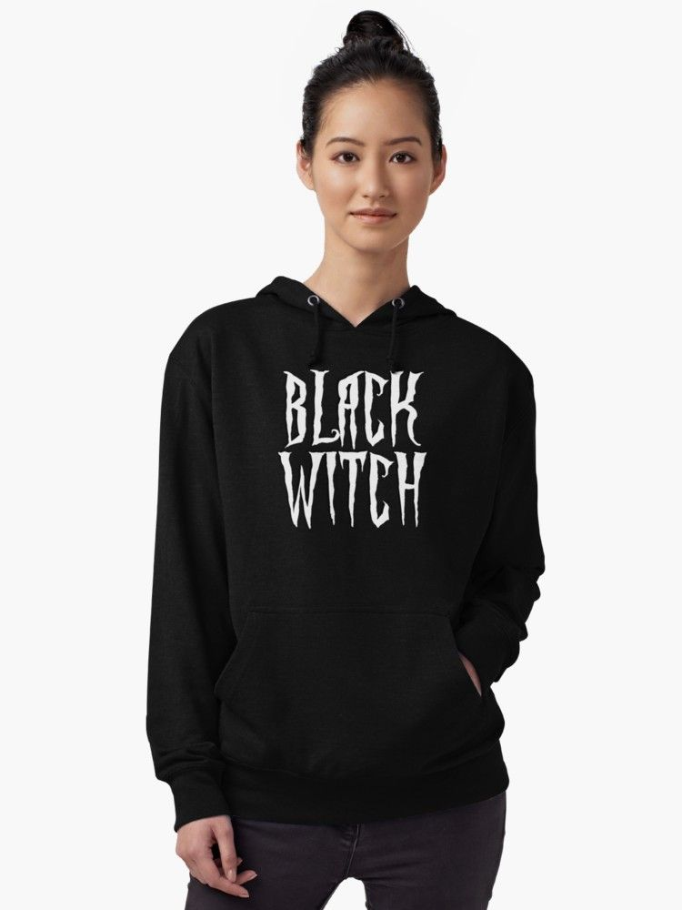 Black witch, white magical, fantasy font Lightweight Hoodie Hoodie - Also  available as T-Shirts   Hoodies, Men s   Women s Apparels, Stickers, iPhone  Cases, ... 5f6bcad7907c
