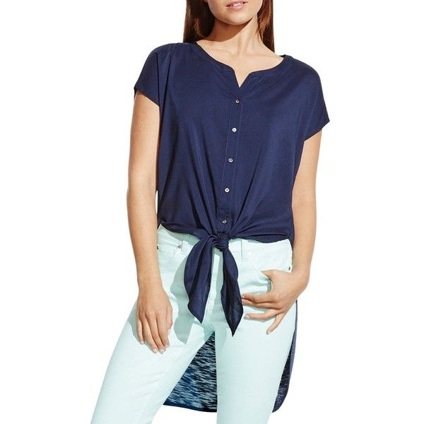Clearance Classic tie front blouse - Blue Vince With Mastercard Sale Online From China Good Selling For Sale 100% Guaranteed 5MtJboUi