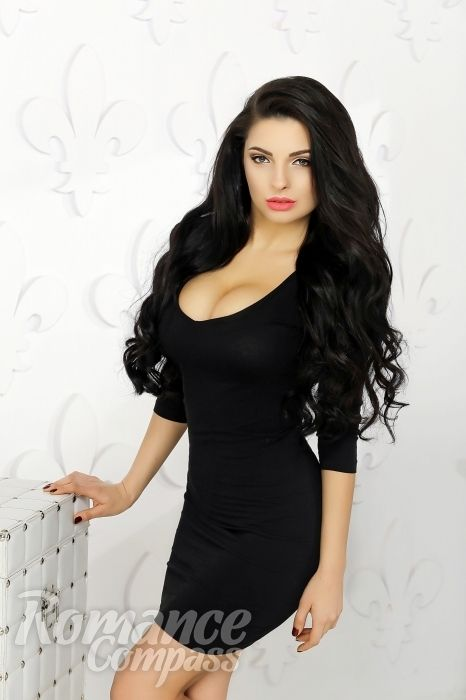Date Ukraine Single Girl Tatyana Grey Eyes, Black Hair -7199