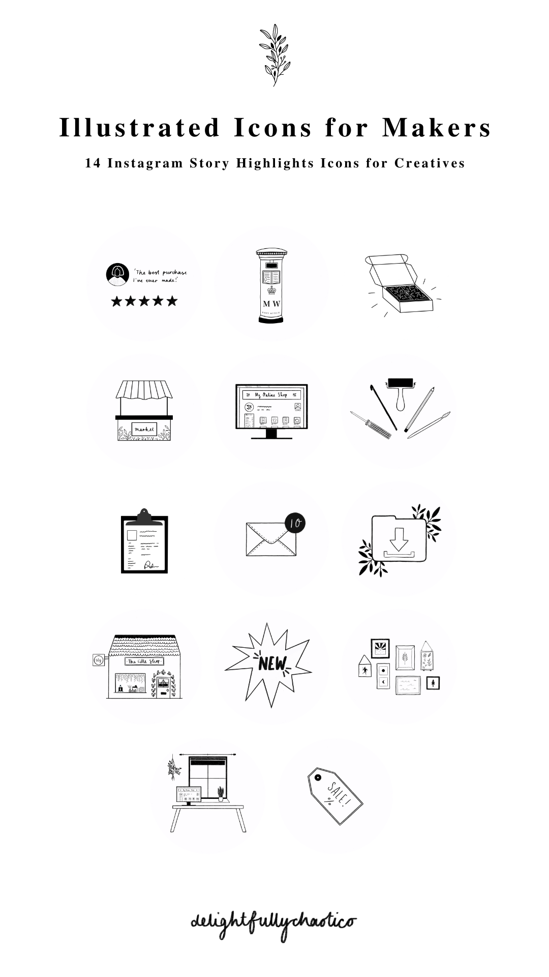 Instagram Icons For Creative Small Business Owners Makers And Etsy Creative Small Business Instagram Branding Creative Business Owner