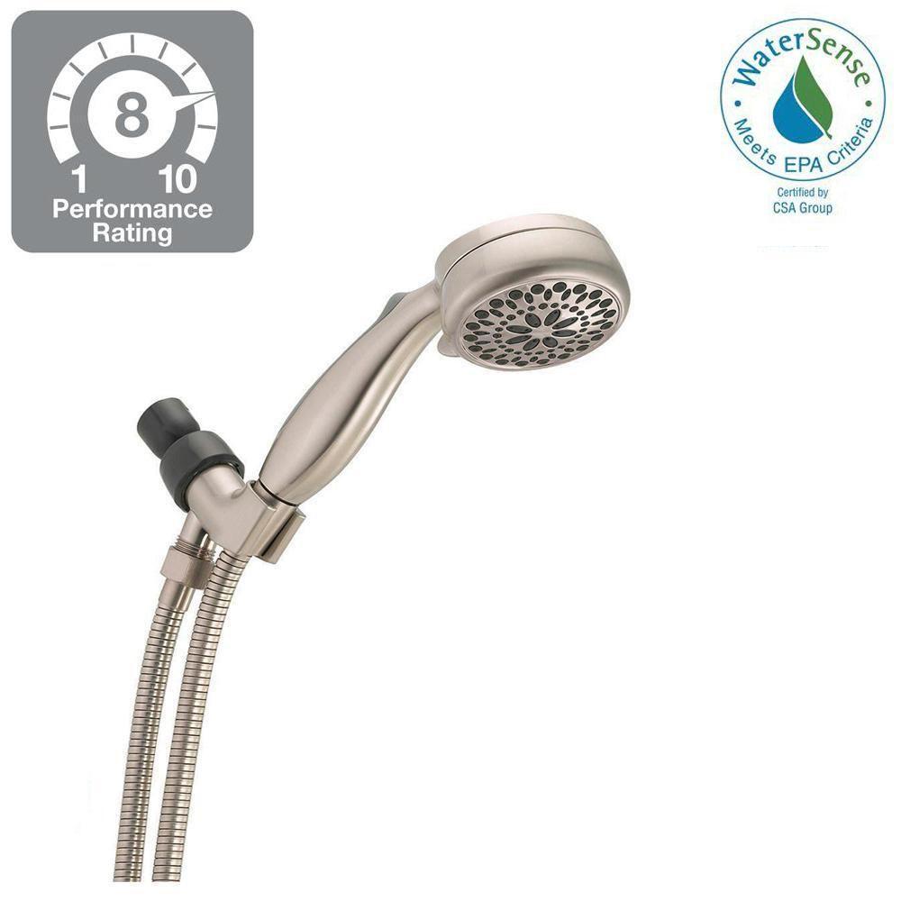 Home Zen La Clayette delta 7-spray handheld hand shower in brushed nickel-75701sn
