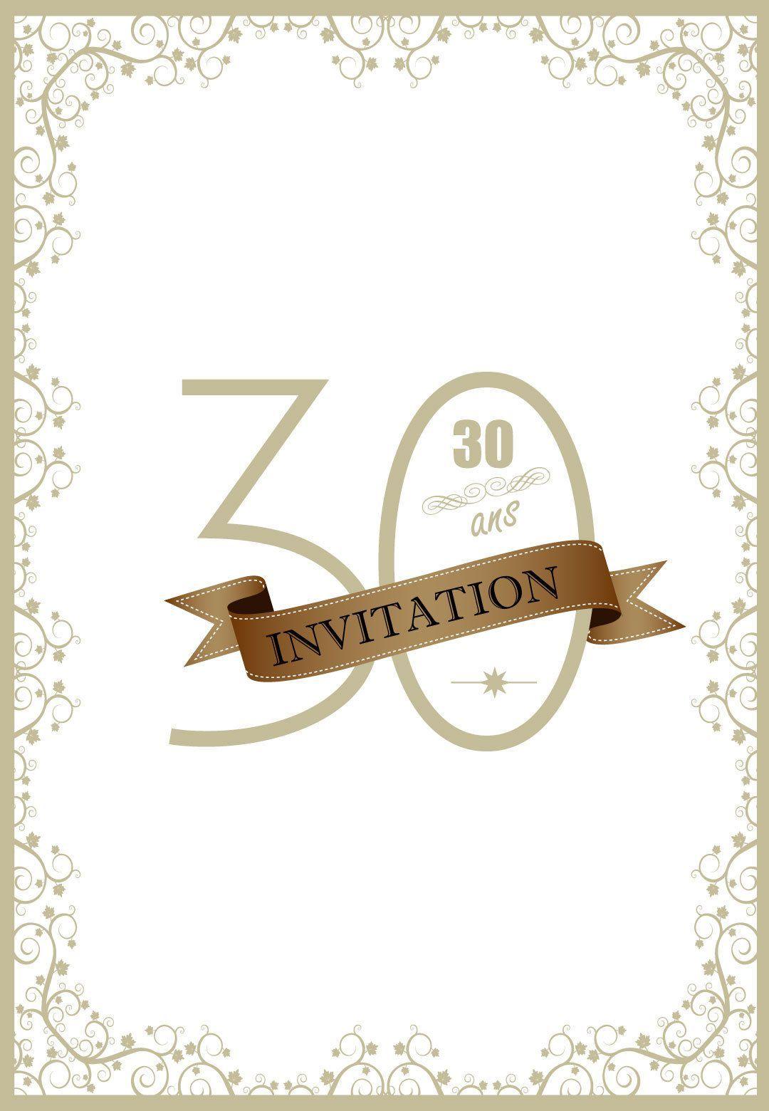 carte anniversaire femme 30 ans carte invitation anniversaire 30 ans | Carte invitation