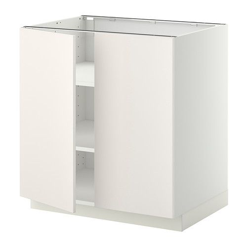 ikea metod unterschrank m b den 2t ren veddinge wei wei 80x60 cm mit versetzbaren. Black Bedroom Furniture Sets. Home Design Ideas