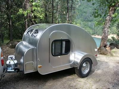 Tiny Camping Trailers teardrop camping on the open road with tiny trailer Compact Custom Built Teardrop Shaped Travel And Camping Trailer