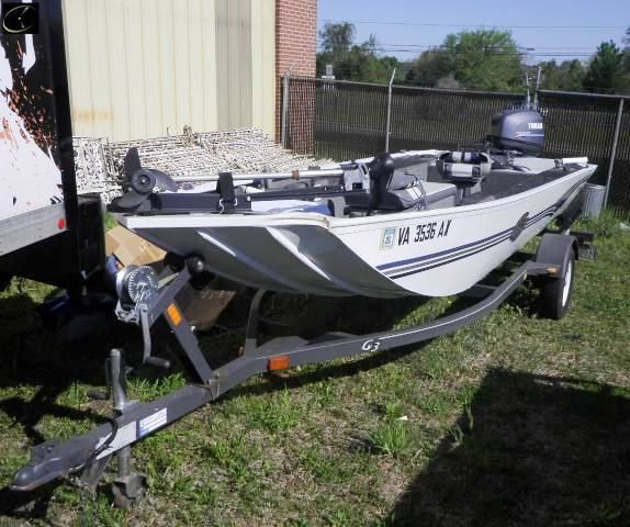 BASS BOAT G3 PF165 2000 17 BASS BOAT W/YAMAHA 25-HP 4-STROKE