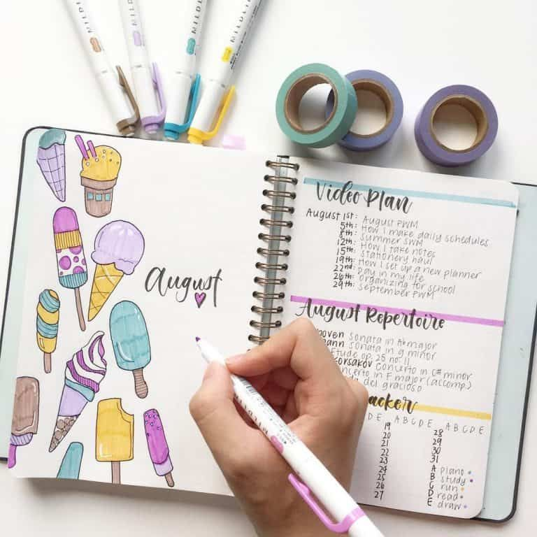 50+ Delicious Ice Cream Bullet Journal ideas | My Inner Creative