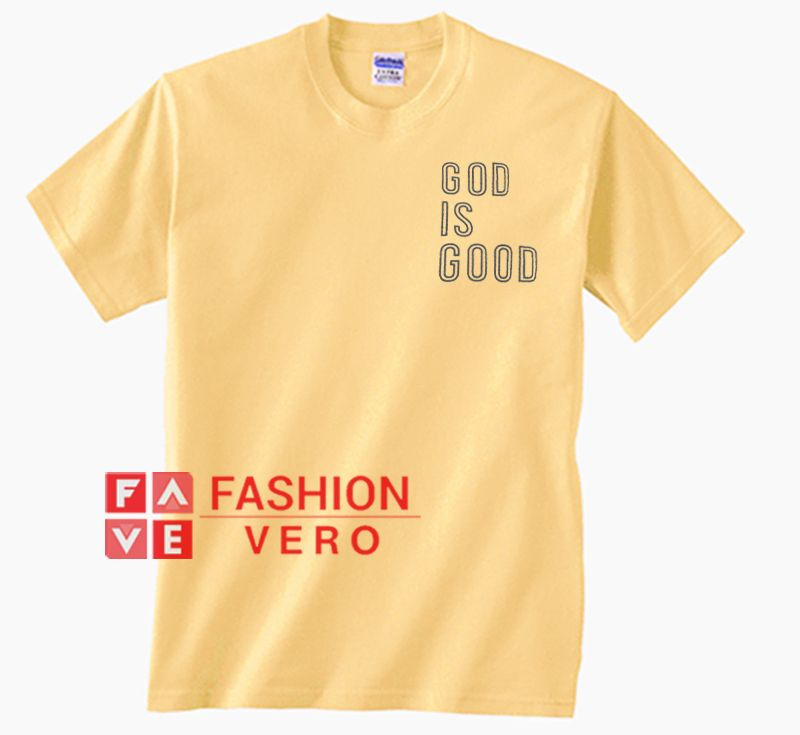ca3920d9 God Is Good Bright Yellow Unisex adult T shirt.This t-shirt design is  printed on a high quality T-shirt and is made to order.