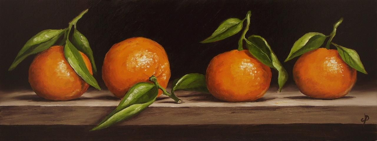 Clementines, J Palmer Daily painting Original oil still life