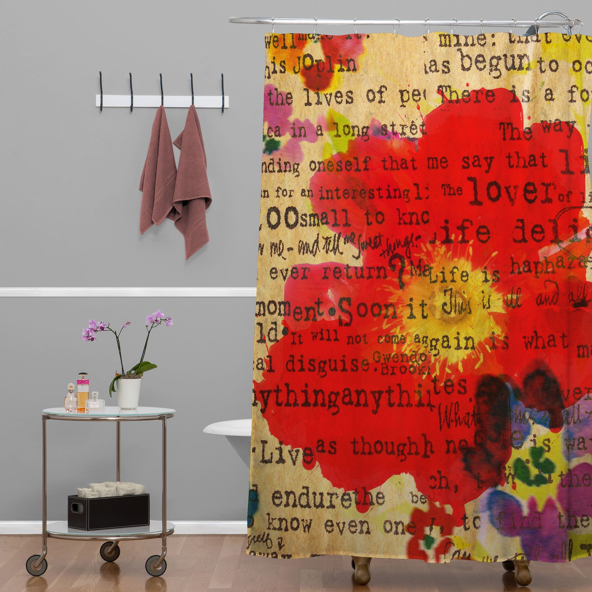 Irena Orlov Poppy Poetry Shower Curtain Products
