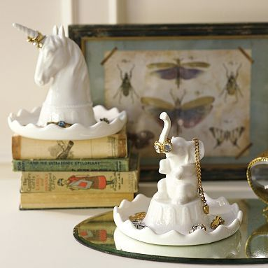 Unicorn and elephant jewlery holders!!!