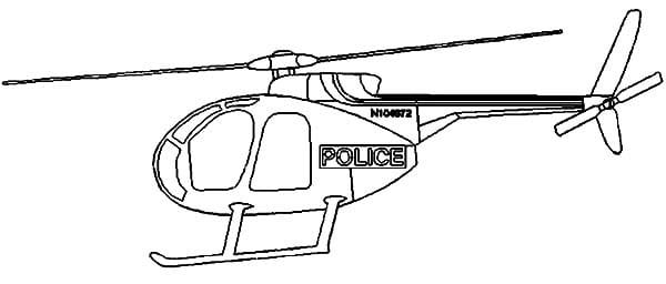 Police Helicopter Coloring Pages Drawing Coloring