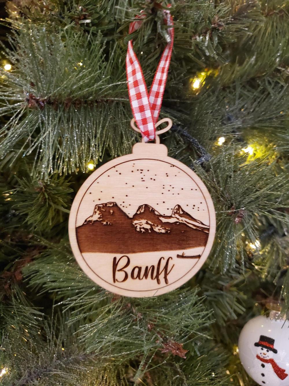 Banff Christmas Ornament Laser Engraved Christmas