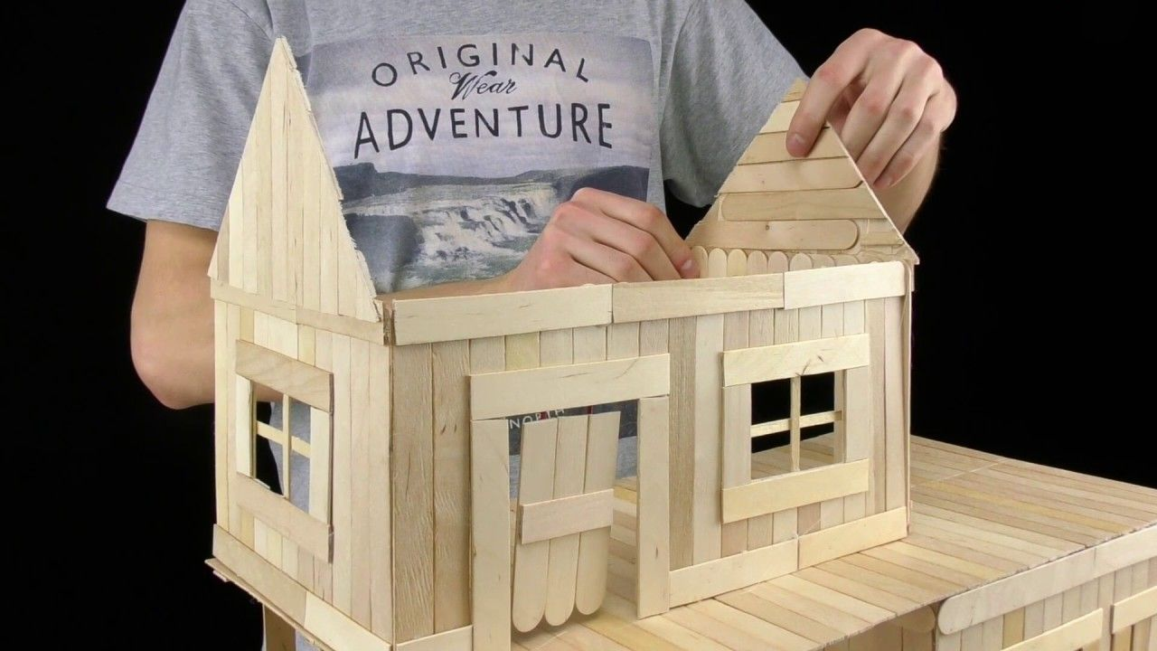 How To Make Popsicle Stick House For Rat Popsicle Stick Houses