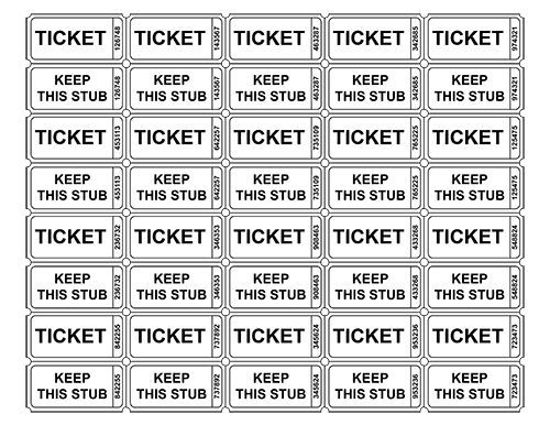 free ticket template ,printable tickets Ticket Template Raffle - free raffle ticket template