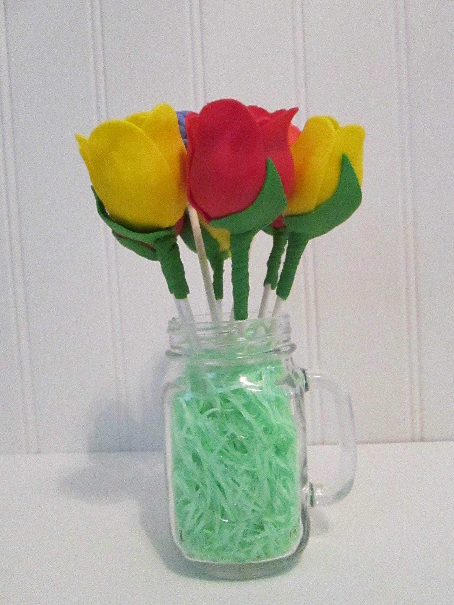 Tulip Cake Pops Flower Cake Pop Bouquet Cake Pops Pinterest