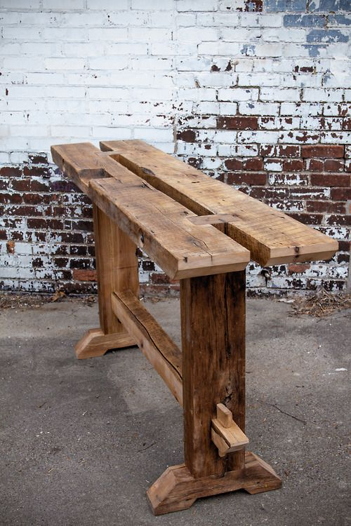 Barn Beam Sofa Table Rustic Wood Furniture Wood