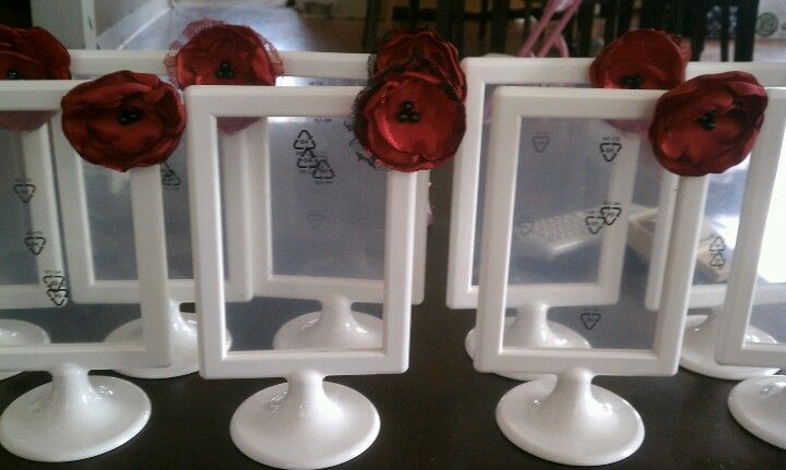 Diy Ikea Tolsby Frame And Fabric Flower Table Numbers For