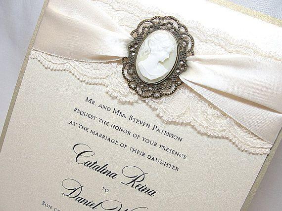 Lace Wedding Invitation Invite By