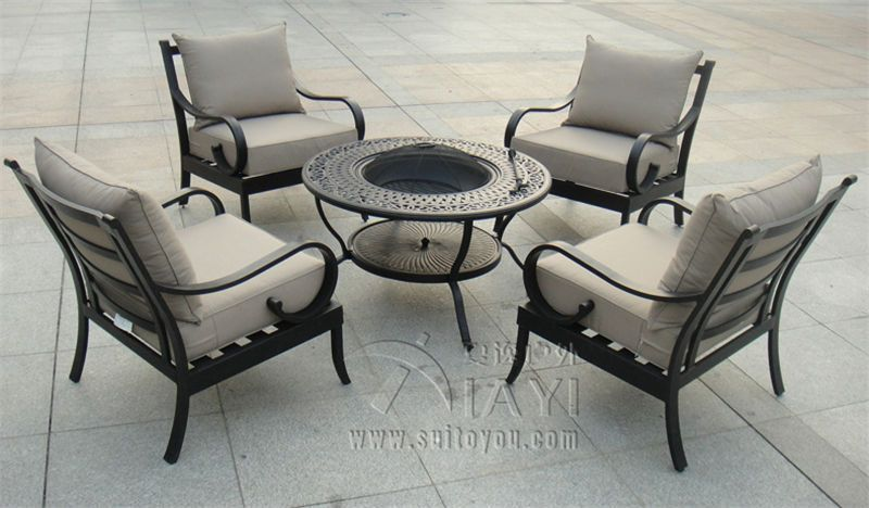 5 Piece Best Ing Cast Aluminum Outdoor Furniture Bbq Table And Chair Transport
