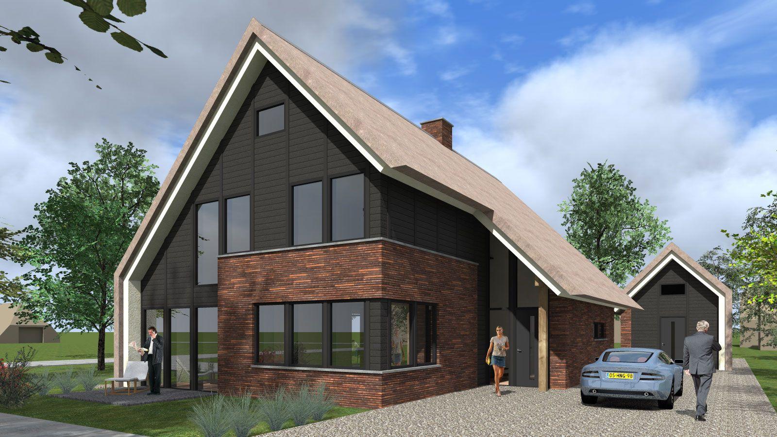 Een eigentijdse zweedse woning in harderwijk deze woning is stoer vormgegeven en heeft zijn for Eigentijdse buitenkant