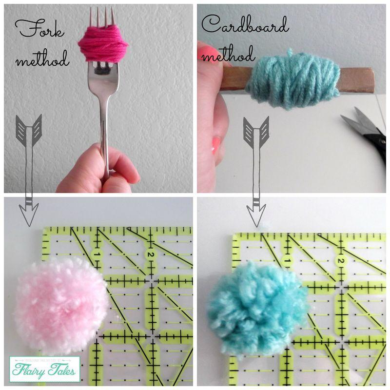 Ways to make yarn pom poms