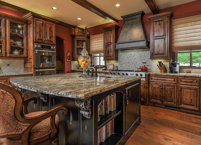 50 High End Dark Wood Kitchens Photos Rustic Kitchen Cabinets