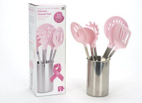 Breast Cancer Campaign Ensemble d\u0027ustensiles de cuisine + support Rose 7  pièces (Import