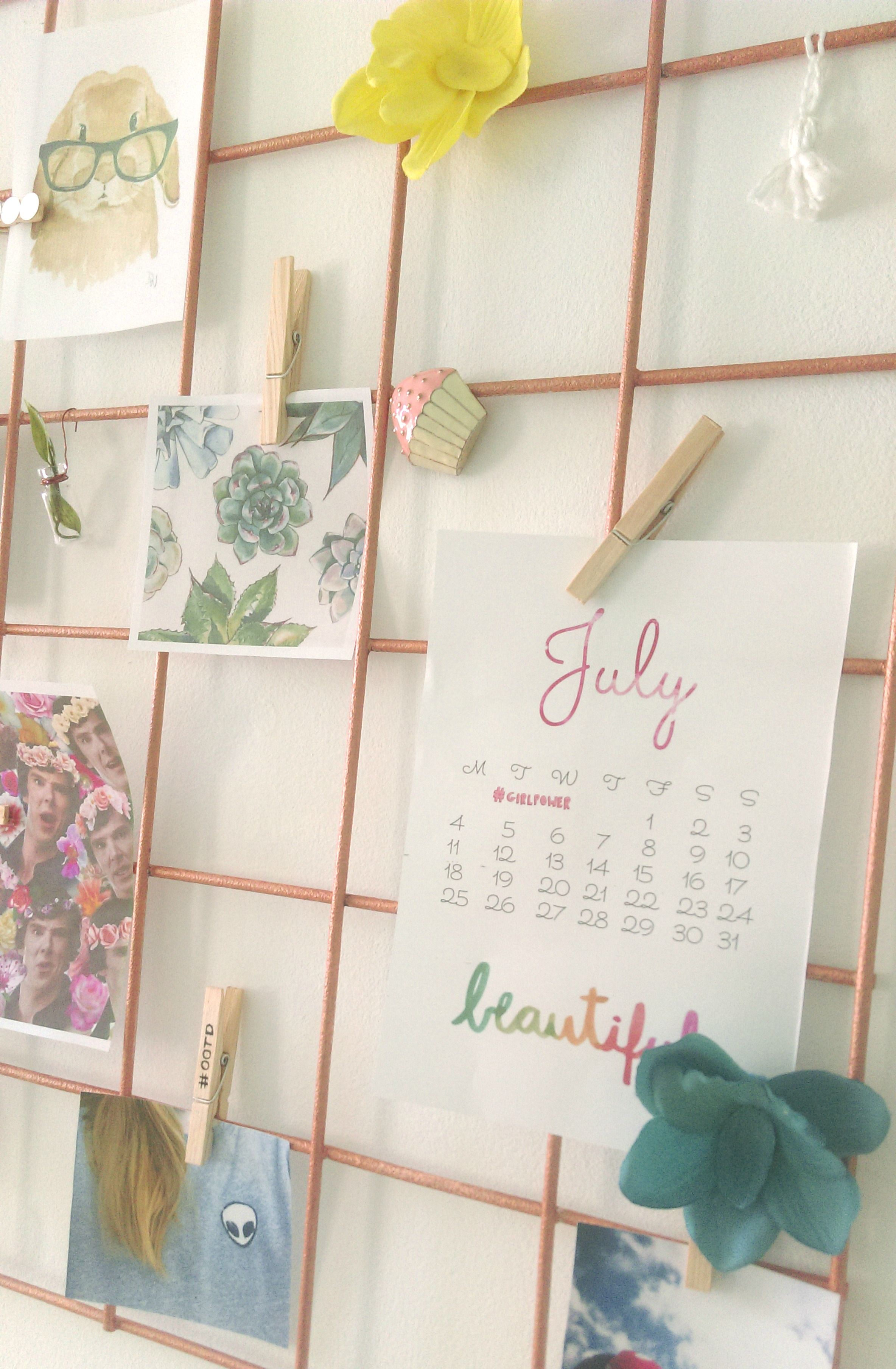 Diy wire wall grid room wall decor home decor for Grid room