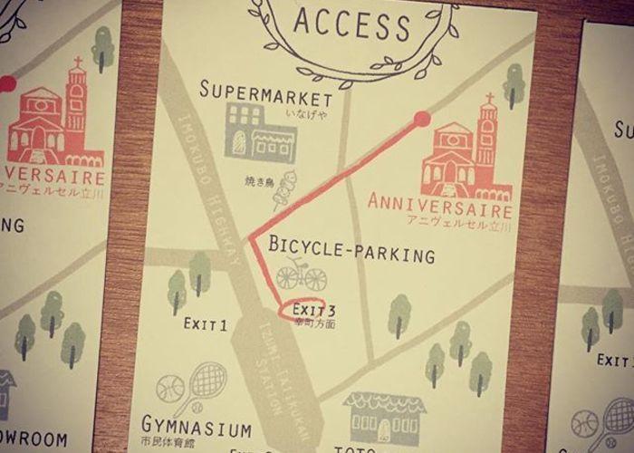 結婚式の招待状を出すときは 手作り地図 も入れるのが親切 結婚式 招待状 招待状 招待状 デザイン