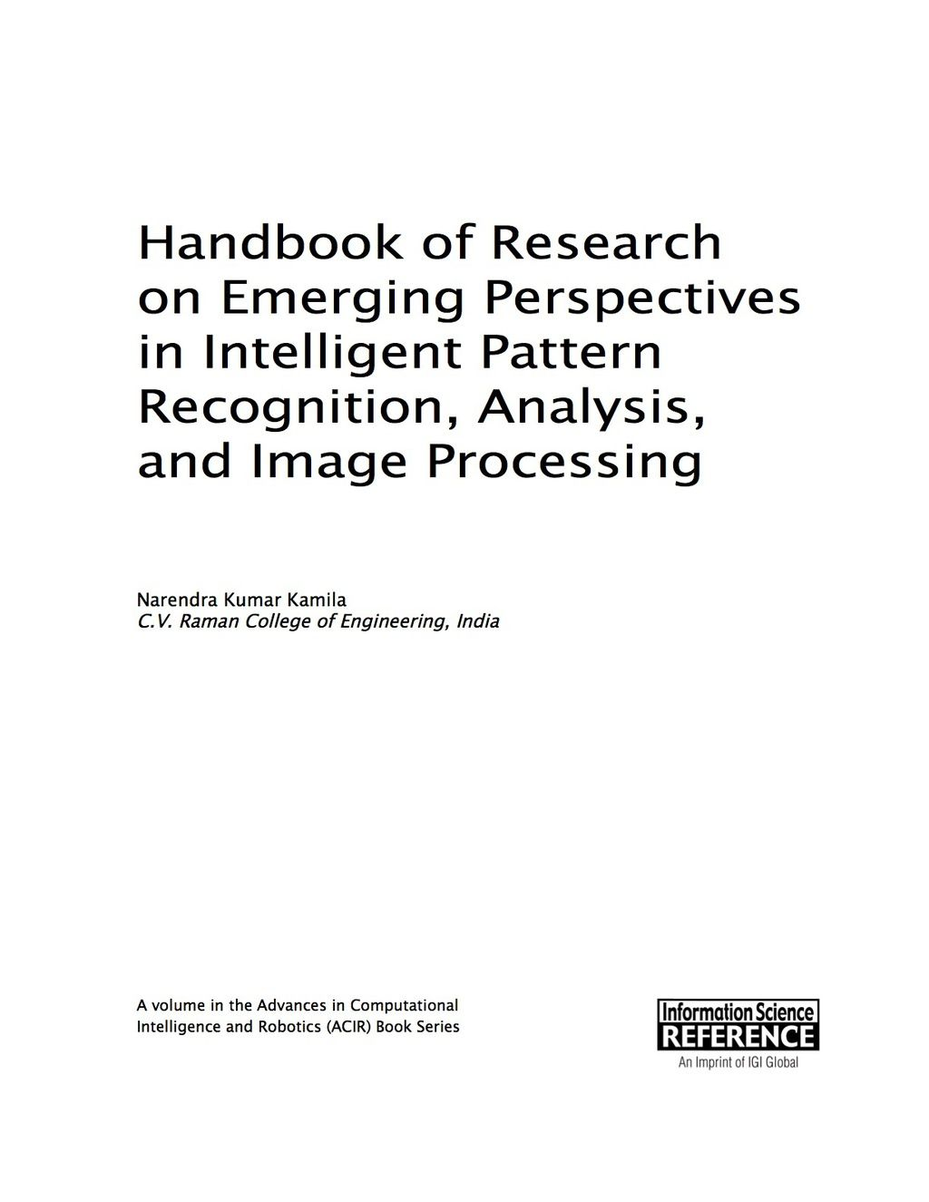 Handbook Of Research On Emerging Perspectives In Intelligent