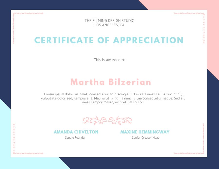 Custom Certificate Of Appreciation Graduation Diploma Template