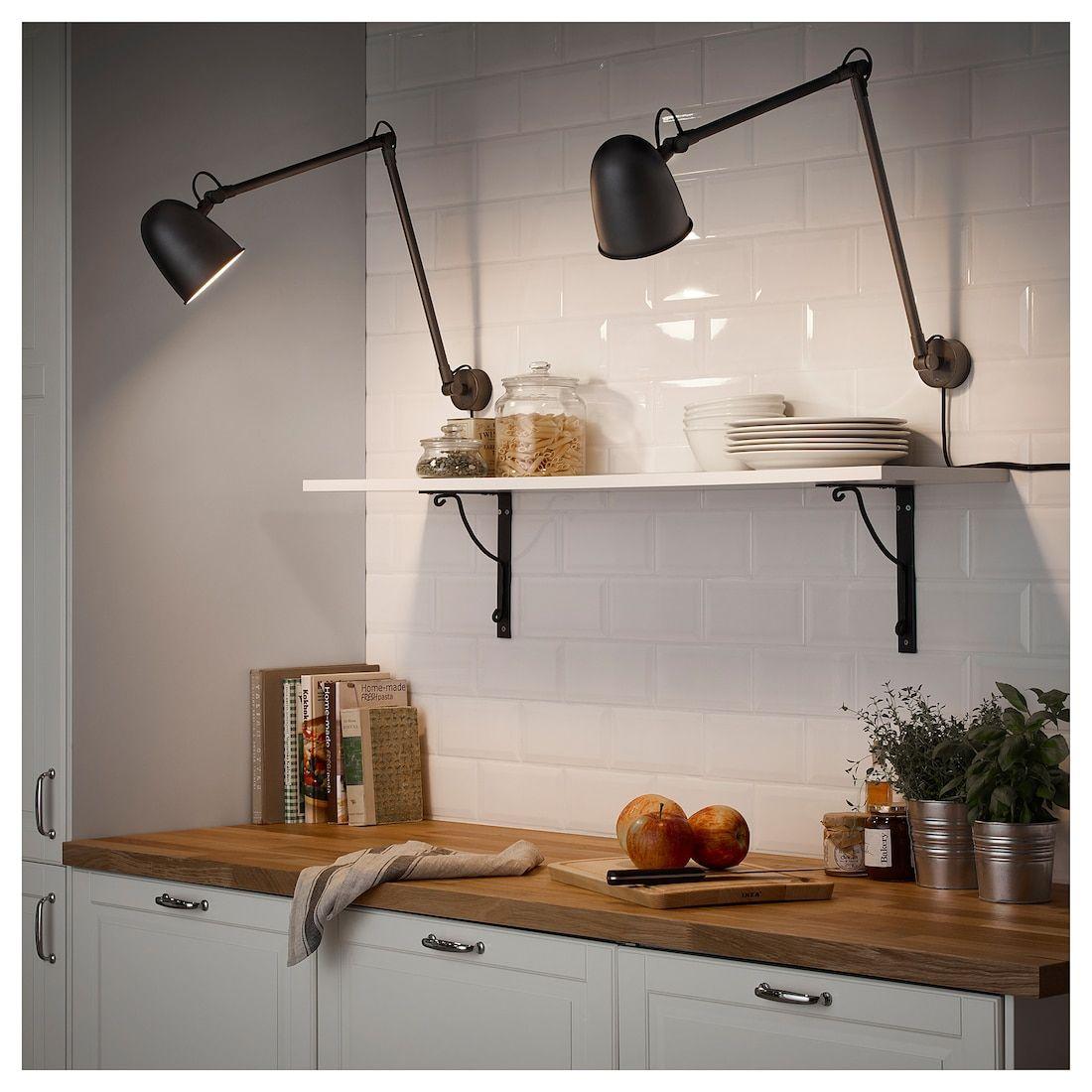 Skurup Arbejds Vaeglampe Sort Ikea Wandleuchte Wandleuchte Schwarz Ikea Deckenlampe