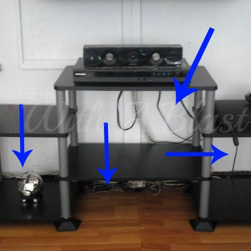 An Easy Way To Hide Cords/Electrical Wires