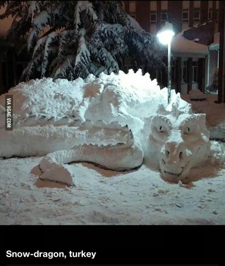Snow dragon!