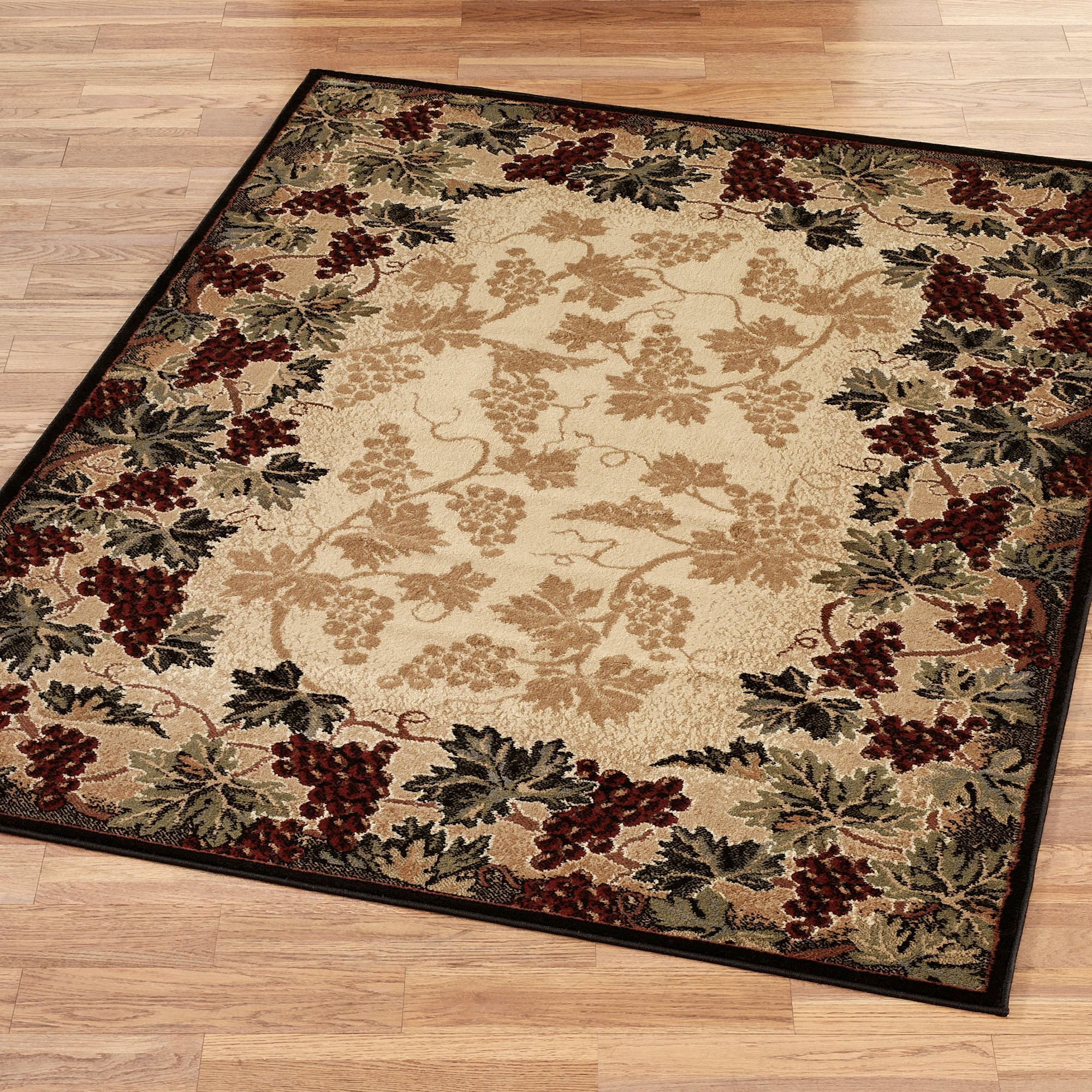 Beaujolais Ii Grape Area Rugs With Images Kitchen Decor Themes